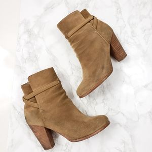 Joie Rigby Suede Ankle Boots Bootie Dune